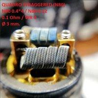 Спираль HM Quadro staggered - Ni80 (2 шт. - пара)