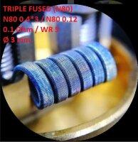 Спираль HM Triple fused - Ni80 (2 шт. - пара)